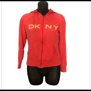 🎉3/$30 DKNY Active Zip Up Hoodie Small